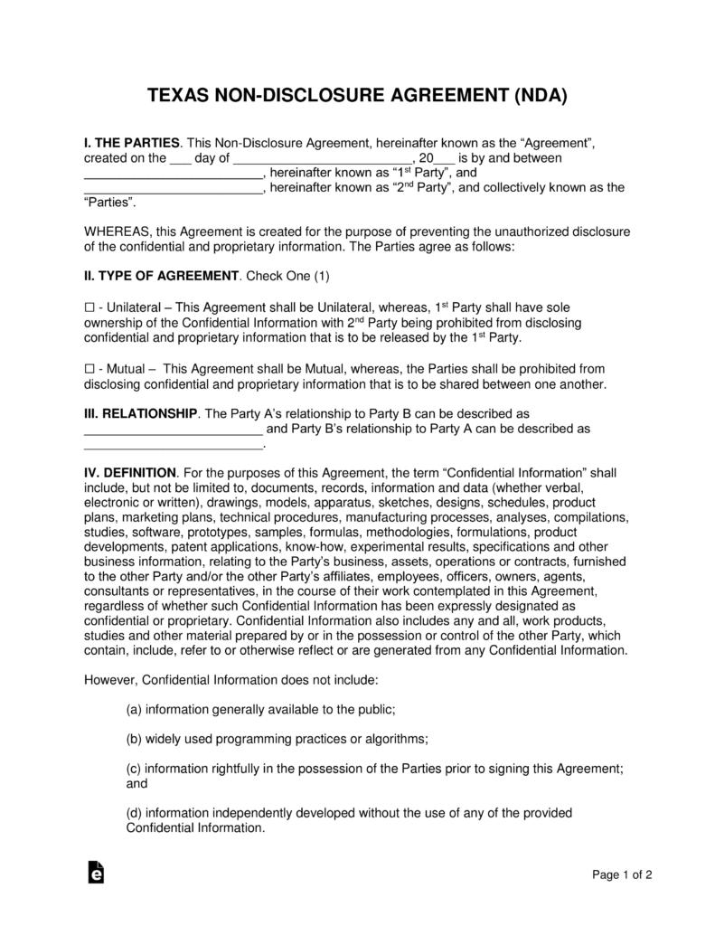 texas-non-disclosure-agreement-nda-template-pdf-doc-msword