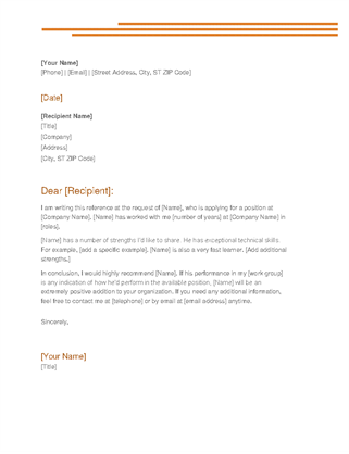Personal Reference Letter Template Word from templatesflow.com