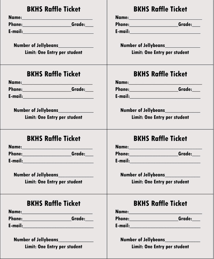 Free Raffle Ticket Templates Templates Download